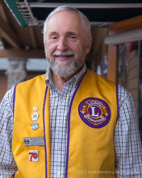 Photo submitted for the assignment critique. Passed muster. This is my former history teacher at high school, Mr. Cheap. His Lions Club sponsors my nephew's Cub Scout Pack.