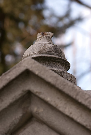 detail of a cemetery shrine. Seattle, Washington, Evergreen-Washelli Cemetery