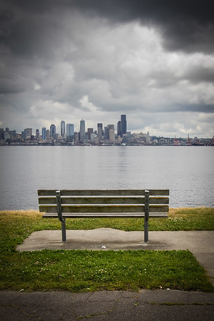 Seattle skyline from West Seattle shore
