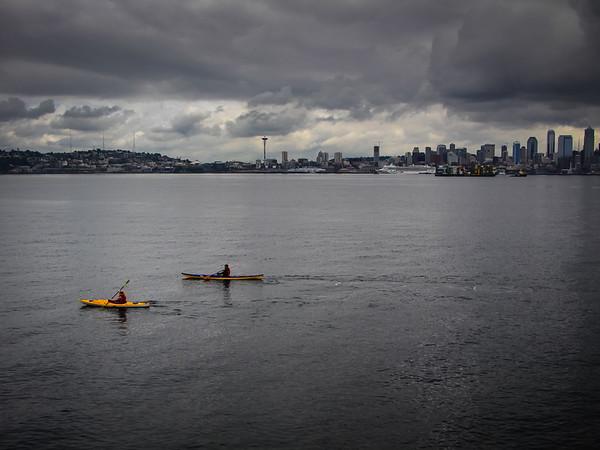 Seattle skyline from West Seattle shore