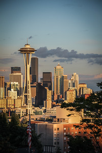 Golden hour in Seattle, WA