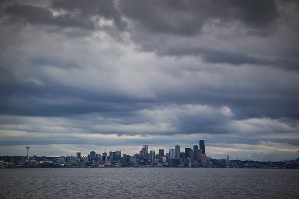 Seattle from the Bainbridge ferry