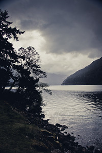 Lake Crescent just after a shower
