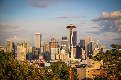 Early evening in Seattle