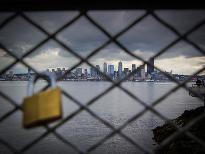Love lock on the West Seattle shore
