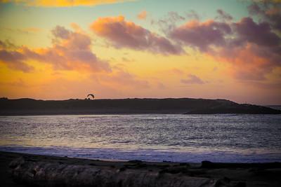 Pacific sunset in Westport, WA