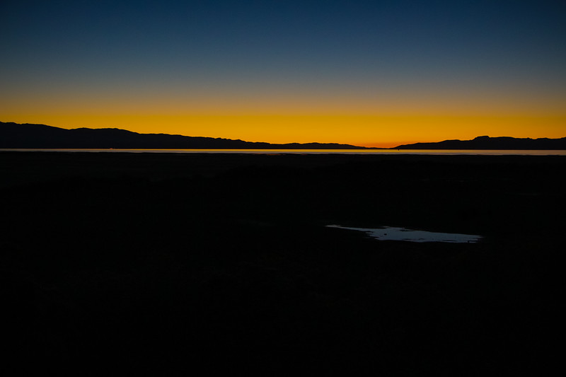 The Great Salt Lake at sunset