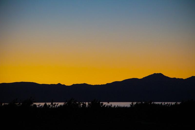 The Great Salt Lake at sunset