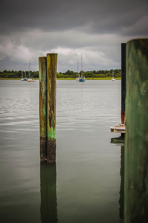 Beaufort waterfront (and wild ponies way in the distance()