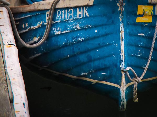 Blue boat in Beaufort