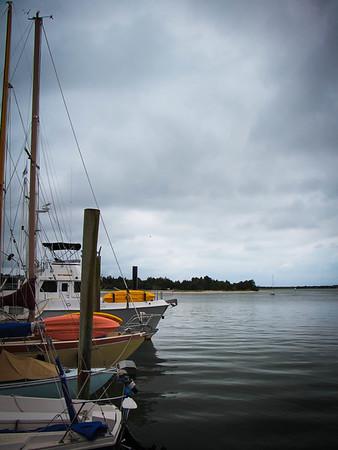 Dark day on the Beaufort waterfront