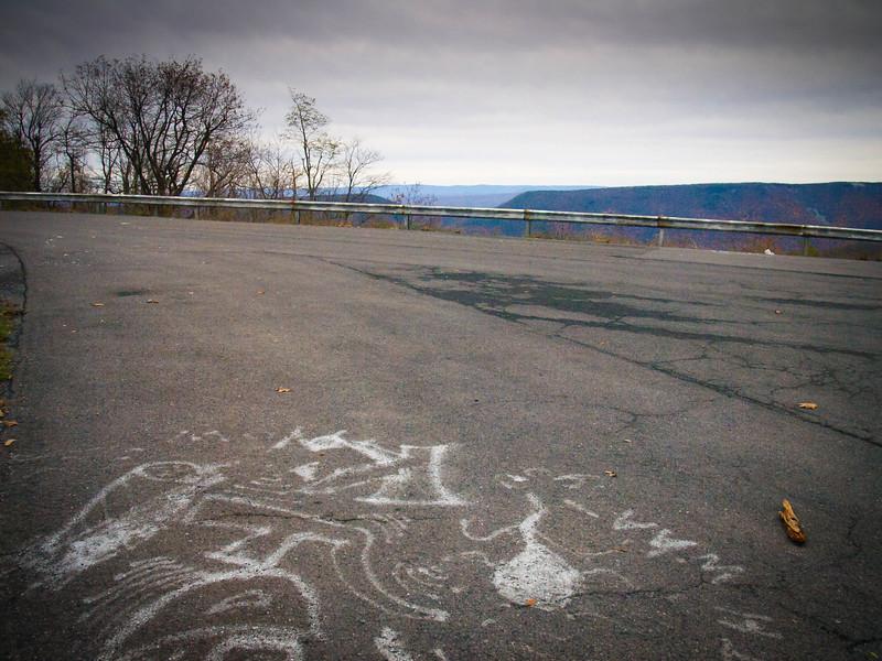 Overlook graffiti