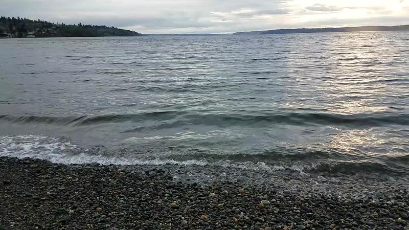 Peaceful evening on Puget Sound