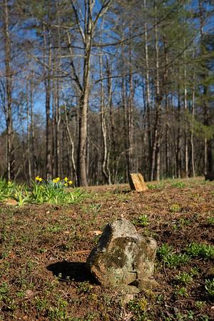 Slaves' gravestones in western North Carolina, March 2018