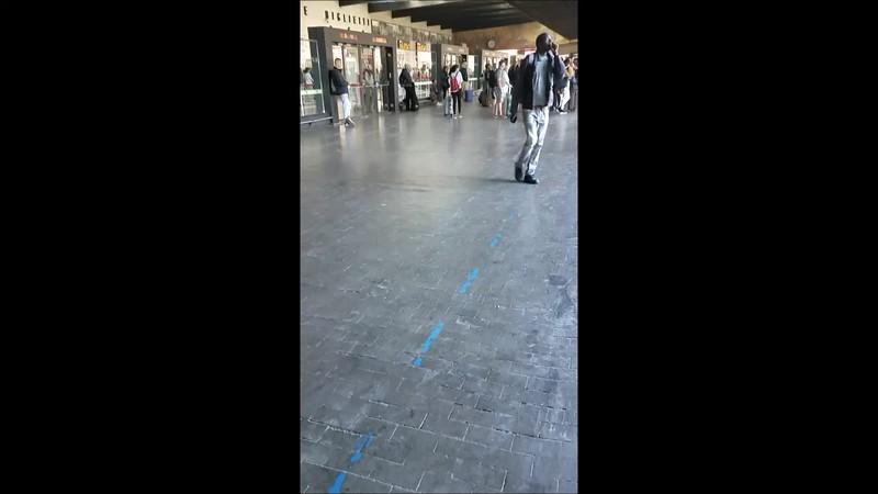 The Pisa train station