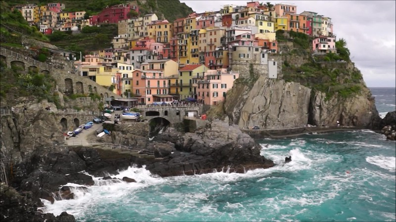 A stormy day in Manarola, one of the villages of Cinque Terre, Italy