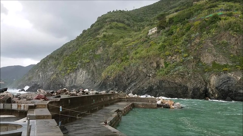A stormy day in Vernazza, one of the villages of Cinque Terre, Italy
