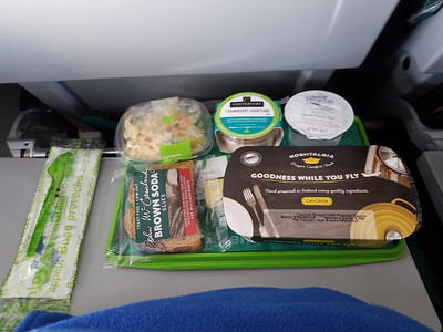 The food on this flight wasn't too shabby