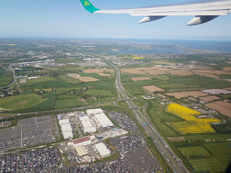 Flying out of Dublin