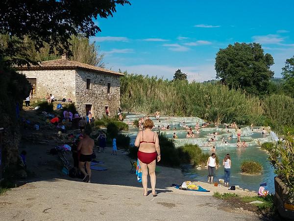 Terme di Saturnia, Grosseto, Italy, May 2018