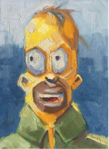 Homer Simpson Oil Painting