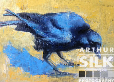 Raven Painting - Sold
