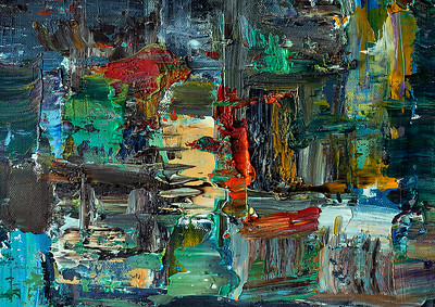 Abstract oil painting- sold