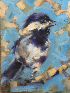 Chickadee Painting 6 x 8 $195