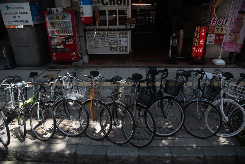 Street scene; Otaru, Japan. Abstract