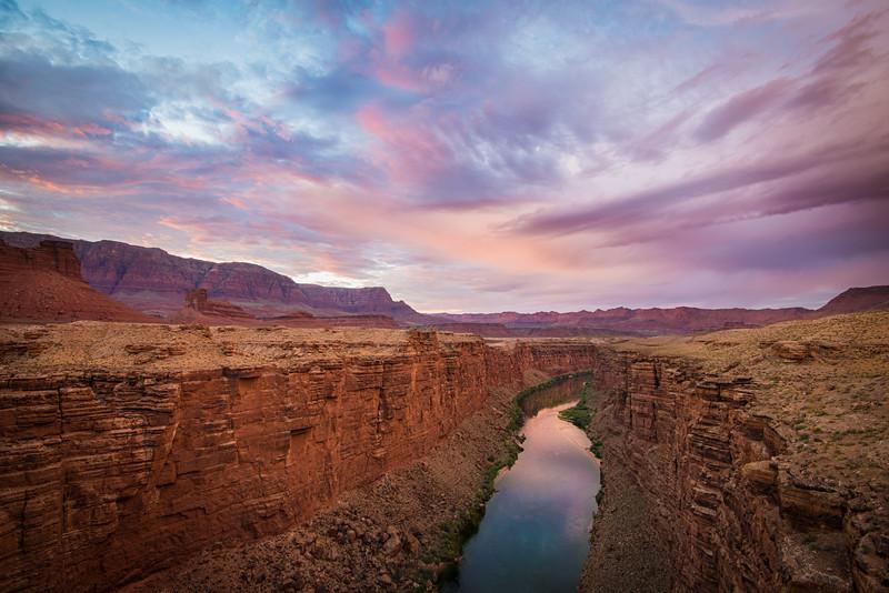 Colorado River, taken from Navajo Bridge, Arizona