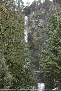 The famous Bridge at Multnomah Falls-currently inaccessible due to last summer's fires