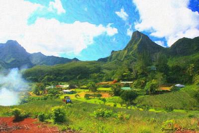 Lush Island Valley