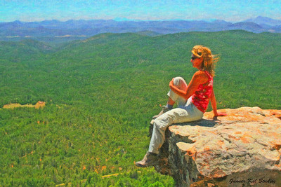 Livin' on the Edge (Mogollon Rim Overlook)