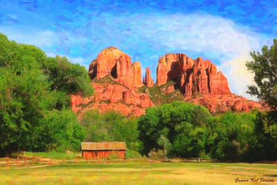 Sedona Rocks and Farm