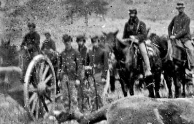 Union artillery at Antietam