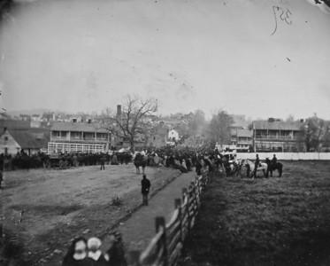 Gettysburg parade of troops