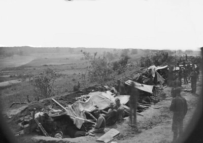 Union troops in trench
