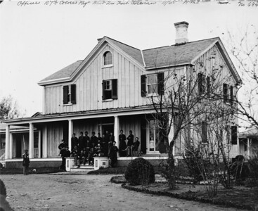 107th USCT officers at house