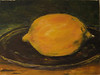 """Manet's Lemon"" ©2010  Susie Morrell oil on canvas 12"" x 9"""