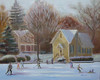 """Lake Afton Ice Skaters"" ©2011 Susie Morrell oil on canvas 16"" x 20"""""