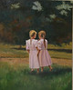"""Sisters"" ©2010 Susie Morrell oil on canvas 24"" x 30"""