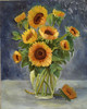 """Sunflowers"" ©2011 Susie Morrell oil on canvas 16"" x 20"""
