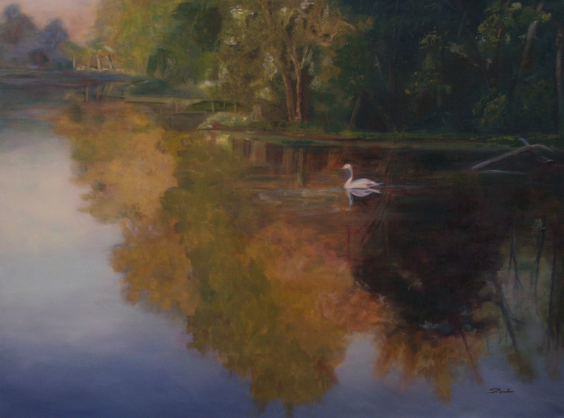 """Drifting"" ©2012 Susie Morrell oil on canvas 48"" x 36"""