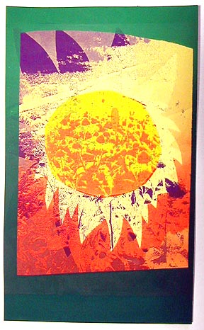 "SUMMER GARDEN<br /> screenprint 6""x12""<br /> edition of 8, 2002<br /> <br /> First Prize, Cape Cod Art Association<br /> Fall Juried Show, 2005"