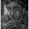 """Maxwell""<br /> wood engraving 4""x5""<br /> edition of 10; 2008"
