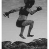 """Wave Dancer""<br /> wood engraving 4""x6""<br /> edition of 15; 2010"