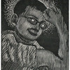 """Nathan""<br /> wood engraving 5""x6""<br /> edition of 10, 2010"