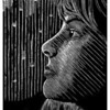 """Ruby Elizabeth""<br /> wood engraving<br /> 4""x5"" edition of 10: 2008"