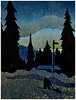 """""""Heading Home""""<br /> color woodcut 8""""x10.5""""<br /> edition of 10: 2010"""
