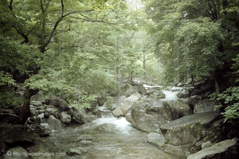 Taken from a footbridge a short walk from Haeinsa Temple.